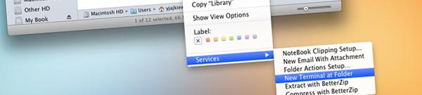 Mac: ouvrir un dossier dans le terminal