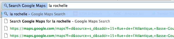 Ajouter Google Maps aux recherches Google Chrome